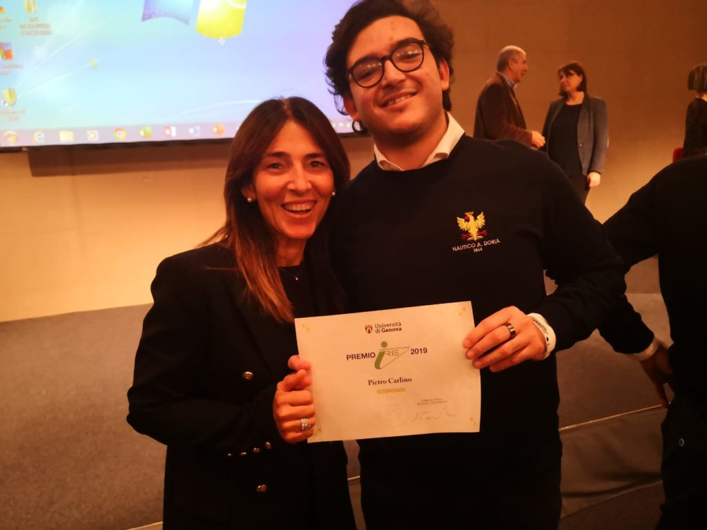 Pietro Carlino, premiato a Orientamenti 2019 miglior matricola di Economia dell'Università di Genova